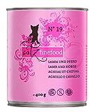 catz finefood N° 19 Lamm und Pferd Katzennassfutter, 6er Pack (6 x 800 g)