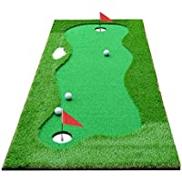 HOGAR AMO Golf Puttingmatte 75 cm x 300 cm Indoor/Outdoor Golf Trainingshilfe Putting Matte Golfgeschenke
