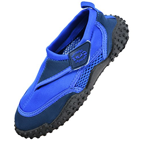 Boys Girls Mens Womens Surf Aqua Shoes Beach Swim Water Shoes Wetsuit Socks (UK 6, Blue)