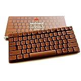 Schokoladen-Tastatur Silikonform - Backform für PC Keyboard aus Schokolade - auch für lustige Eiswürfel geeignet