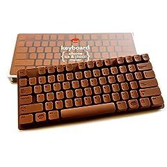Idea Regalo - Stampo in silicone cioccolato tastiera-Stampo per PC Keyboard in cioccolato-adatto anche per divertente cubetti di ghiaccio