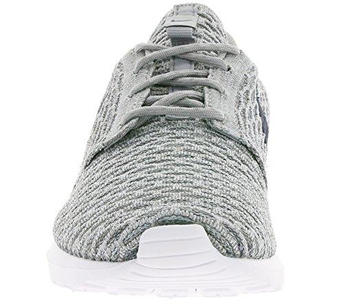 Nike Herren Roshe NM Flyknit Laufschuhe Verschiedene Farben (Grau / Schwarz (Lght Chrcl / Drk Gry Obsdn-Wlf))