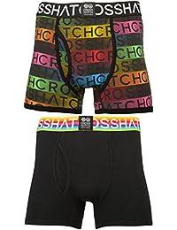 Crosshatch Homme 'Prizion' Lot de 2 Boxer à arc en ciel