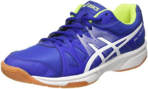 Asics Herren Gel-Upcourt Volleyballschuhe, Mehrfarbig (Asics Blue/White/Safety Yellow), 43.5 EU