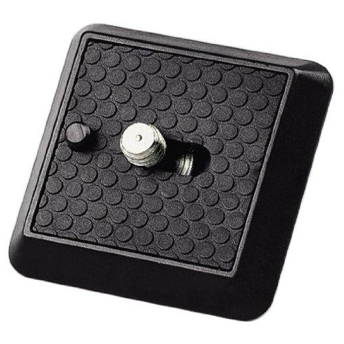 Hama Schnellkupplungsplatte (für Stative Profil 70-89 und Gamma, A 1/4 Zoll Gewinde) schwarz