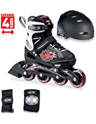 Rollerblade Patines phaser cube negro/rojo 1