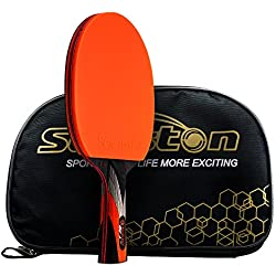 Senston Raquette de ping-Pong, homologuée par l'ITTF Raquette Professionnelle avec étui