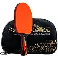 senston ITTF - Bate de Tenis de Mesa, Pala de pingpong Profesional con Funda