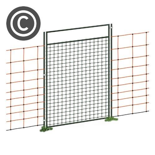 VOSS.farming Tür für Netze, Weidezaun Netz Tür, für Netze über 95cm Höhe, 86cm Öffnungsbreite