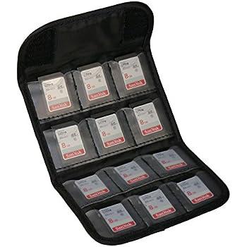 GEM GSDCC01 12cards Noir logement pour carte mémoire - logements pour cartes mémoire (12 cartes, SD, Noir)