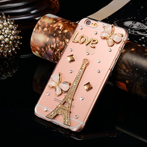 BING Für IPhone 6 / 6s Diamond verkrustete Juwel Fox Pattern PC Schutzhülle Back Cover BING ( SKU : IP6G1006G ) IP6G1006D