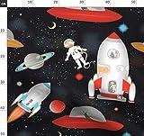 Rakete, Weltraum, Astronaut, Ausländer, Planet Stoffe -