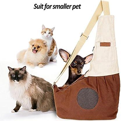 Pet Carrier Backpack Comfort Breathable Travel Tote Shoulder 100% Cotton Sling Bag with Pouch Adjustable Strap For Dog… 3