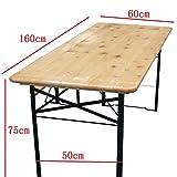 TT International - Set tavolo e panche da giardino, 160 cm