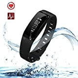 Cospor Fitness Tracker,Wireless Smart Activity Trackers Wristband Blood Pressure Heart Rate Monitor Sport Bracelet Pedometer Watch