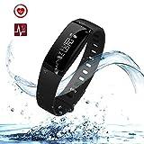 Cospor Fitness Tracker,Wireless Smart Activity Trackers Wristband Blood Pressure Heart Rate Monitor Sport Bracelet Pedometer Watch