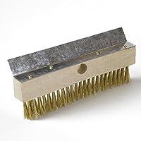 ECENCE Cepillo de latón Cepillo para Horno de Pizza Horno de leña ahumador y Parrilla, Incluye rascador 81040206