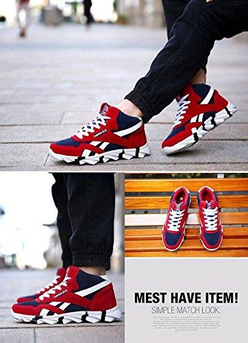 Primavera / Autunno / Inverno Sneaker della lama di drago pattini di sport di alta parte superiore di modo tengono caldo e traspirabile Red