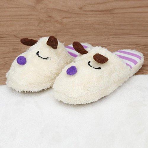 Simpatico Cane Calde Scarpe Casa Donne Invernali Pantofole Qinmm Evidenziarsi Peluche Velluto Di Dovessero Beige Nelle dEqqOtaw