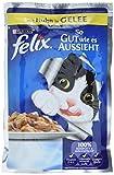 Felix Katzennassfutter So gut wie es aussieht in Gelee (mit Huhn) 20er Pack (20 x 100g) Portionsbeutel
