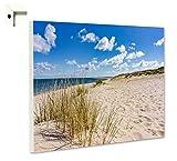 Magnettafel Pinnwand mit Motiv Natur Sylt Strand Sand Düne Größe 60 x 40 cm