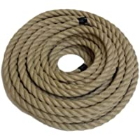 RopeServices UK 15Mts X28Mm X 3 Strand Waterproof Manila Decking Rope