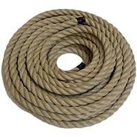 Reino Unido RopeServices 45Mts X 20 mm Decking cuerda, poli cáñamo, Hempex, barco, bricolaje. Jardines, ocio