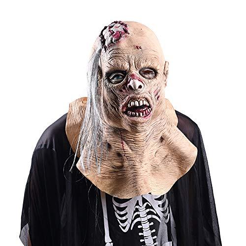 Halloween Faule Weibliche Leiche Maske Erwachsene Perücke Lustige Parodie Bar Secret Room Beängstigend Cos Live Show Requisiten