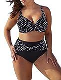 Zantec Bikini Bademode, Damen oder Mädchen Dots Print Split Badeanzug Hohe Taille Plus Size Sexy Bikini Set Badeanzug Beach Wearfür Urlaub