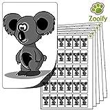 480 x Aufkleber - Koalabär . Hochwertige selbstklebende Etiketten mit