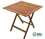 SAM Gartentisch 60x60 cm Blossom, klappbar, Akazien-Holz, FSC® 100% Zertifiziert, für Balkon und Garten