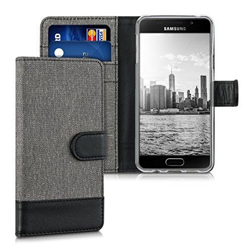kwmobile Samsung Galaxy A3 (2016) Hülle - Kunstleder Wallet Case für Samsung Galaxy A3 (2016) mit Kartenfächern & Stand