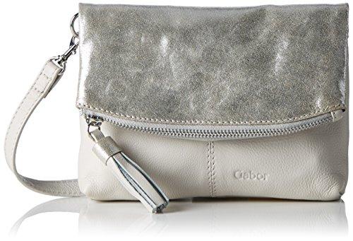 Gabor Damen Kylie Umhängetasche, Silber (Silber), 2x15x20.2 cm (Leder-schuhe 2 Silber)