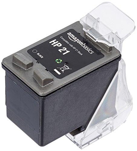 Amazonbasics - cartuccia rigenerata di inchiostro per hp 21, nero