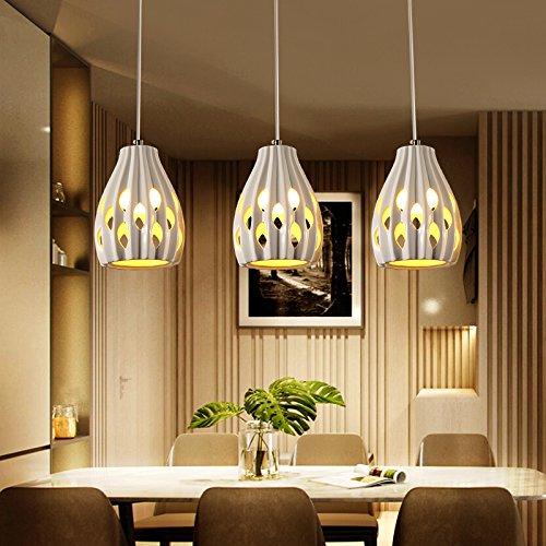 BESPD Jane Europa Restaurant Drei Mahlzeiten hängende Einfache moderne Kreative LED-Tabelle Kronleuchter drei Umläufe zu Trichromatischen Led senden