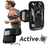 Navitech schwarzes Neoprene Wasser wiederständiges Sport / Laufen / lauf armbinde Case für das Trustin Portable Dictaphone