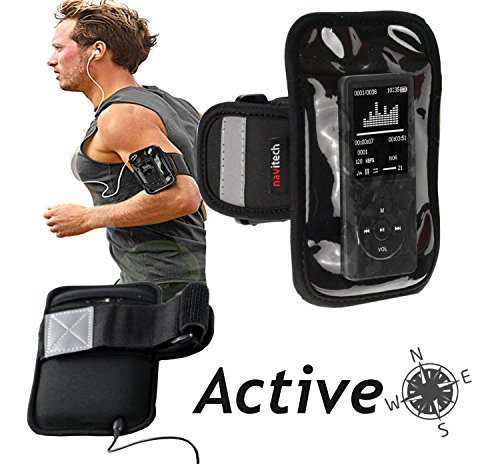 Navitech Black MP3/MP4 Sports Running Armband For the HccToo Music Player 16GB
