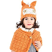 7f50b1e64e4d3 Tacobear Invierno Gorros de Punto Cálidos Bebé Gorros de Animales Lindos Sombrero  y Bufanda Otoño Invierno