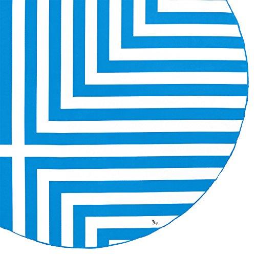 Round Beach Towel (Blue – Cross Design – 190cm) – includes carry bag, round towel holder, sand free beach towel