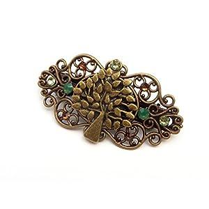 Kleine Haarspange mit Baum Ornament Zopfhalter