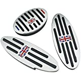 QIDIAN 3 Piezas para Mini Cooper Countryman Clubman Fuel Clutch Brake Foot Rest reposapiés Pedal Pad