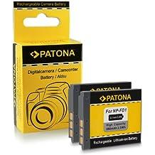 2x Batteria NP-BD1 / NP-FD1 per Sony Cybershot DSC-G3 | DSC-T2 | DSC-T70 | DSC-T75 | DSC-T77 | DSC-T90 | DSC-T200 | DSC-T300 | DSC-T500 | DSC-T700 | DSC-T900 | DSC-TX1