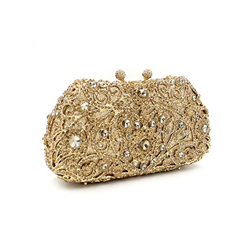 Dinner-Paket Europa und den Vereinigten Staaten Stil aristokratischen Paket Diamantbohrlöcher Tasche Braut Paket Gold, Silber Gold