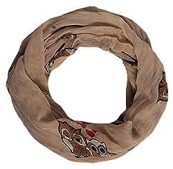 Schöner Damen Schal mit Eulen Muster. Schlauchschal in 7 Farben erhältlich. Super kombienierbar für jedes Outfitt ein cooles Accessoires.