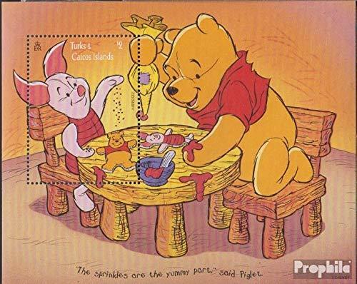 Prophila Collection Turks- und Caicos-Inseln Block165 (kompl.Ausg.) 1996 Walt Disn.s Winnie The Pooh (Briefmarken für Sammler) Comics (Winnie The Pooh Sammler)