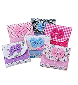 kimberleystore Creative Portable Sanitary Holder Bowknot Sanitary Towel Napkin Pad Case Girl Organizer
