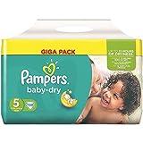 Pampers Baby Dry Größe 4+ Maxi Plus 9-20kg Jumbo Plus Pack, 5er Pack (5 x 76 Windeln)