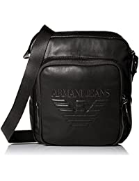 Armani Jeans Black PU Medium Side Bag 932181 7A937 One Size