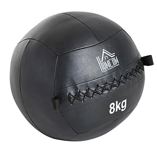HOMCOM Balón Medicinal con Asas para Crossfit 8Kg