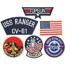 Parches bordados para la ropa, diseño de Maverick Top Gun, 6 unidades